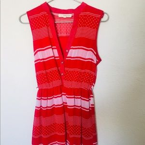 Red Striped Mini Dress